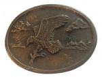Vintage Eagle Belt Buckle Solid Brass Western Country USA Bird Bald Men's 1970s