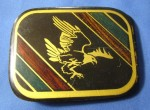 Vtg Harmony Metals CO Landing American Eagle Green Black Solid Brass Belt Buckle