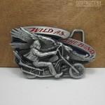 WILD AS THE WIND BELT BUCKLE - G?rtelschnalle - Biker Chopper US Eagle USA