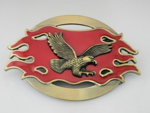 <137> New Fighting Eagle Belt Buckle