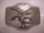 AMERICAN EAGLE BELT BUCKLE, WESTERN DESIGN USA , MADE IN MEXICO