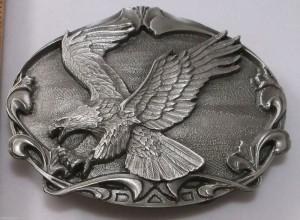 American Bald Eagle Bird Made in USA Bergamot Vintage Belt Buckle ag6