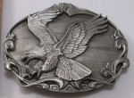 American Bald Eagle Bird Made in USA Bergamot Vintage Belt Buckle ag6