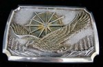 American Eagle Silver Plated Belt Buckle