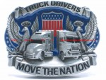 BBU0991W TRUCK DRIVERS MOVE THE NATION WILD EAGLE BELT BUCKLE