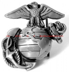 BBU1684Z USMC UNITED STATES MARINE CORPS NAVY ARMY EAGLE ANCHOR E BELT BUCKLE