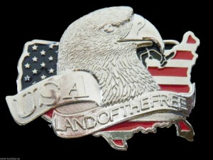 BIG COOL AMERICAN USA OLD GLORY EAGLE FLAG BELT BUCKLE BELTS BUCKLES