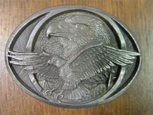 Eagle Oval Belt Buckle