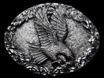 KF05105 **NOS** 1993 WESTERN STYLE *FLYING BALD EAGLE* BELT BUCKLE