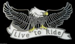 LIVE TO RIDE QUALITY FLYING EAGLE COOL BELT BUCKLE BUCKLES BELTS