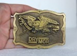Patriotic Eagle Brass Belt Buckle HELPING AMERICA CONSERVE ENERGY DRY MOR Older