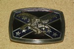 Rebel Flag - Eagle - Belt Buckle - 3 1/2