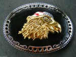 USA BALD GOLDEN EAGLE AMERICAN FLAG BELT BUCKLE BUCKLES BELTS