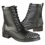 Xelement Men's Studded Leather Boots LU9025