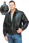 Classic Casual Bomber Leather Jacket M22006ZK