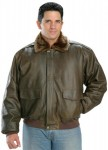 Classic Mens Vintage Aviator Bomber Brown Jacket 1525