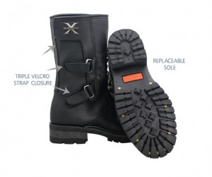 Mens Xelement 9 ? Inch Tornado Motorcycle Boots 1482