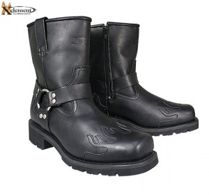 Xelement Advanced 10 Inch Harness Black Flame Motorcycle Boots 1555