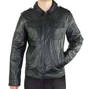 Xelement Mens Urbanite Black Casual Leather Jacket SFT-00113
