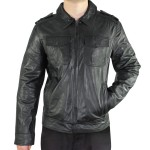 Xelement Mens Urbanite Black Casual Leather Jacket SFT-00113
