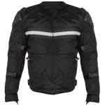 Xelement CF-751 Men's Black Motorcycle Breathable Level-3 Armored Tri-Tex Jacket