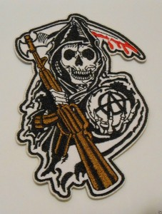 SONS OF ANARCHY {FEAR THE REAPER} SOA ROADGEAR BIKER PATCH SEW OR IRON-ON
