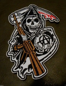 SONS OF ANARCHY {GRIM REAPER} SOA LARGE ROAD GEAR BIKER PATCH SEW OR IRON