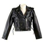 Short Leather Biker Jacket LJ602