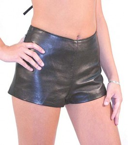 Cowhide Leather Hot Pants Booty Shorts SH3111K