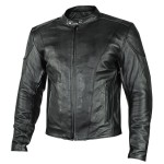 Xelement 'Renegade' Mens Motorcycle Leather Jacket with Gun Pockets B7209