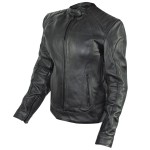Xelement 'Rebel' Womens Black Leather Jacket XS-90045