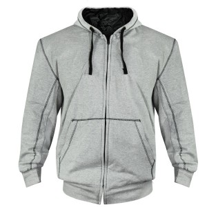 Xelement Mens Heather Grey Armored Hoodie XS-90020