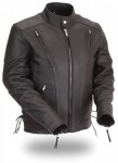 FMC Classic Vented Biker Jacket with Side Lace