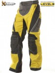 Xelement Black-Yellow Tri-Tex Motorcycle Pants B4404