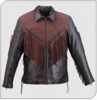Himalaya 221 Mens Nubuck Leather Motorcycle Jacket
