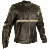 Xelement Men's Brown Leather Armored Motorcycle Jacket BXU-1771