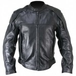 Xelement B-4510 Naked Cowhide Black Leather Motorcycle Jacket with Level 3 Armor