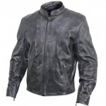 B-9152 Armored Mens Vintage Leather Motorcycle Jacket