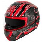 Hawk GLD-803 Infernal Series Glossy Black/Red Full Face Helmet GLD-803-BLK-RED