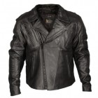 Xelement Armored Mens Black Classic Rider Blackout Leather Motorcycle Jacket XS-1057