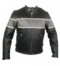 Xelement Cool Rider Collarless Motorcycle Jacket B9103