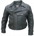 Mens Vented M.C.Jacket Buffalo Leather AL2014