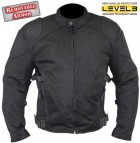 Xelement Black Mesh Padded Armored Motorcycle Jacket СF-2157