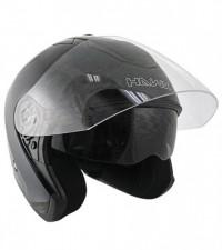 HAWK Glossy Black Dual Visor Motorcycle Helmet AP-80
