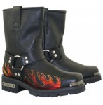 Xelement  Womens Harness Flame Motorcycle Boots 2490