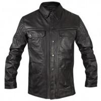 Xelement Men's Hip Length Gun Pocket Black Leather Jacket BXU100867