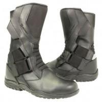 Xelement Men's Velcro Instep Black Leather Racing Boot XM-20328