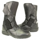 Xelement Men's Velcro Instep Black Leather Racing Boot XM-20328