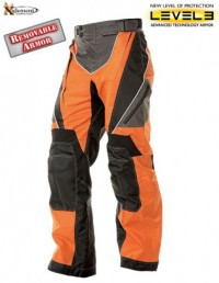 Xelement Black-Orange Tri-Tex Motorcycle Pants B4401