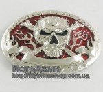 Unique Design Flame Skull Metal Belt Buckle